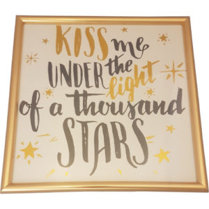 """Gold Hearts Picture """"Thousand Stars"""""""
