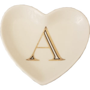 Heart Dish Letter A