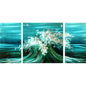 """Aluminum Print """"Making Waves"""" Triptych Set Of 3"""
