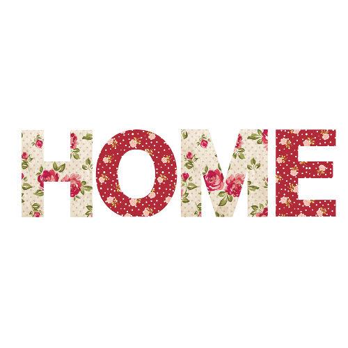 HOME Floral Decorative Blocks 48cm x 14cm