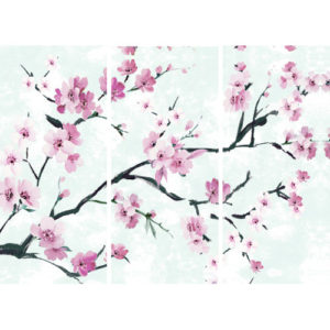 """Canvas Picture """"Japanese Branch"""" Triptych Set of 3"""