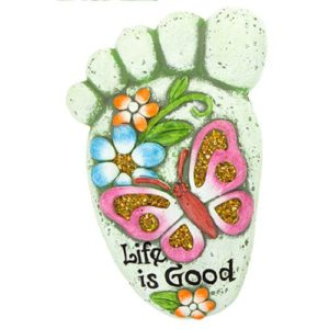 "Footprint Welcome Plaque ""Life Is Good"""