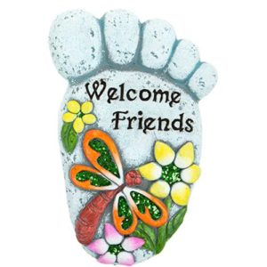 """Footprint Welcome Plaque """"Welcome Friends"""""""