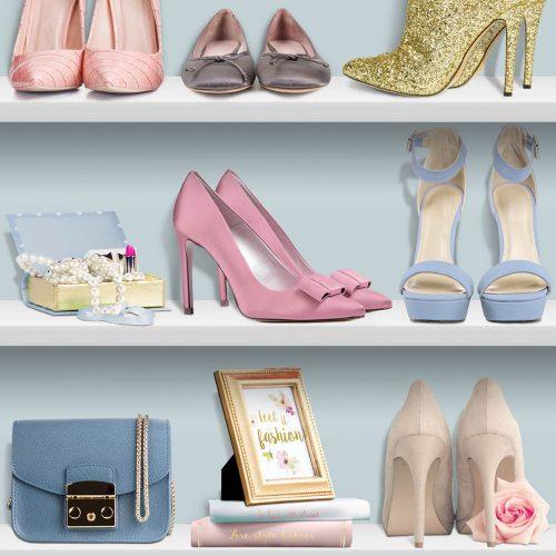 """Muriva Wallcoverings """"Ladies Heels"""" L31601 Sample"""
