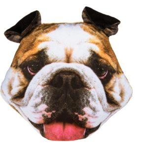 Bulldog Cushion (Filled)