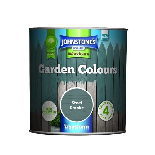 Johnstones Woodcare Garden Colours Steel Smoke 1 Litre