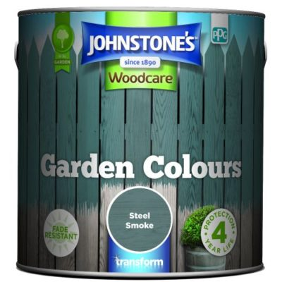 Johnstones Woodcare Garden Colours Steel Smoke 2.5 Litre
