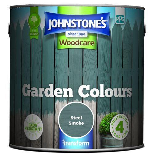 Johnstones Woodcare Garden Colours Steel Smoke 2.5 Litre