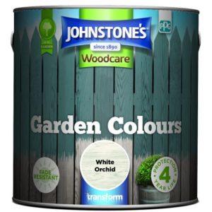 Johnstones Woodcare Garden Colours White Orchid 2.5 Litre