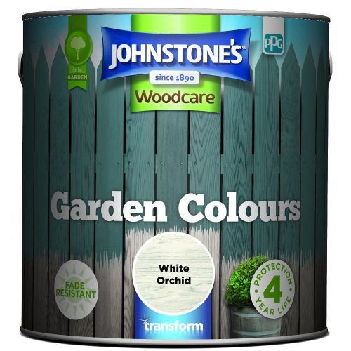 Johnstones Woodcare Garden Colours White Orchid 2.5 Litre