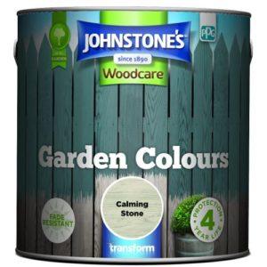 Johnstones Woodcare Garden Colours Calming Stone 2.5 Litre