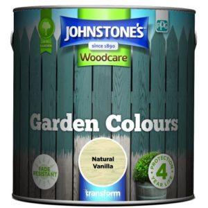 Johnstones Woodcare Garden Colours Natural Vanilla 2.5 Litre