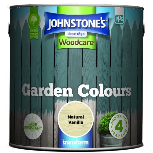 Johnstones Woodcare Garden Colours Natural Vanilla 2.5 Litre