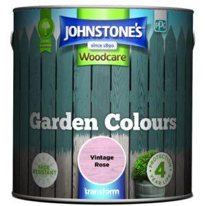 Johnstones Woodcare Garden Colours Vintage Rose 2.5 Litre