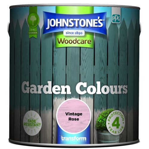 Johnstones Woodcare Garden Colours Vintage Rose 2.5 Litre