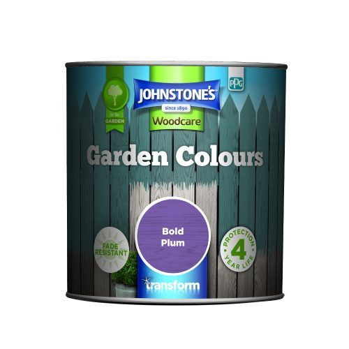 Johnstones Woodcare Garden Colours Bold Plum 1 Litre