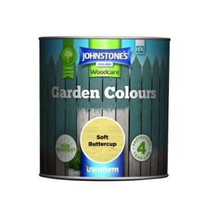 Johnstones Woodcare Garden Colours Soft Buttercup 1 Litre