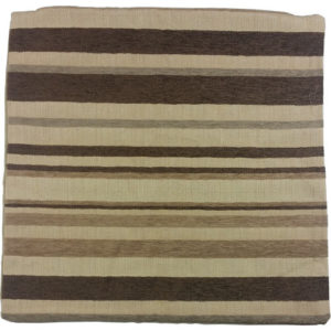 Chenille Striped Cushion Cover Brown