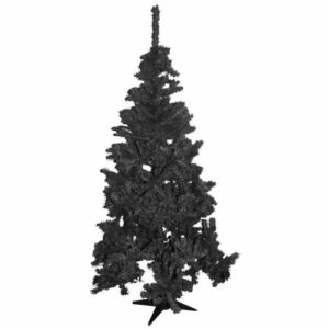 6ft Pine Christmas Tree in Black