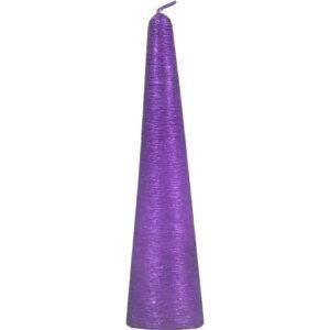 20cm Pyramid Candle Purple