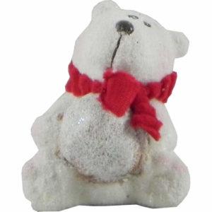 Christmas Polar Bear Ornament 8cm