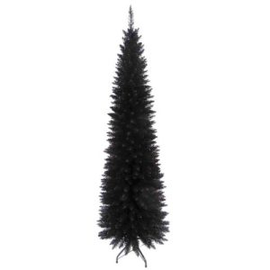 Slim Line 6ft Christmas Tree in Black