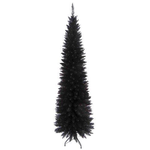 Black Christmas Tree.Slim Line 6ft Christmas Tree In Black