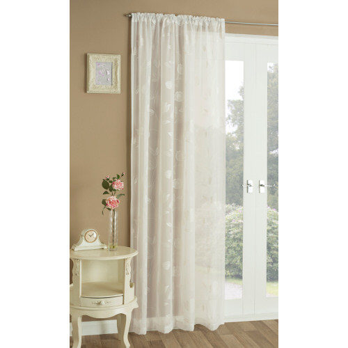 Summer Voile Panel Curtain in Cream 140cm x 229cm