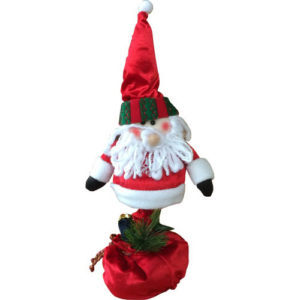 Christmas Telescopic Extendable Soft Plush Decoration Santa 30cm - 50cm