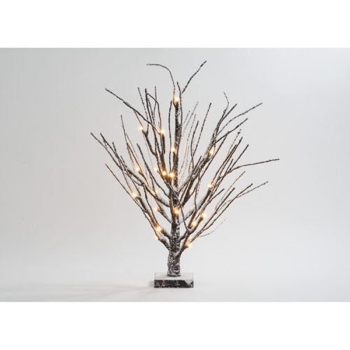 LED Snow Tree in Brown