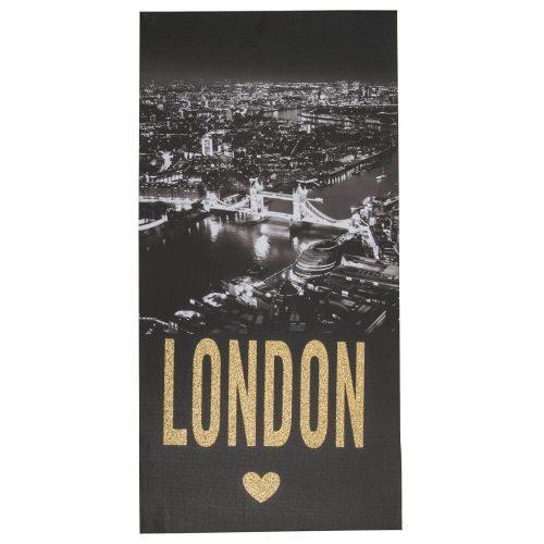 Glitter Cityscape Picture 80cm x 40cm London Gold