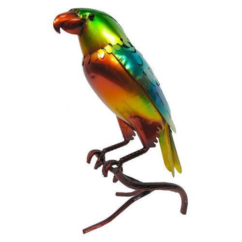 Glazed Parrot Garden Ornament
