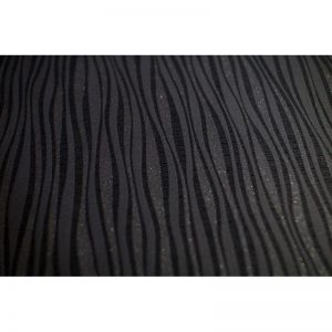 P+S Luxury Blown Vinyl Wave Wallpaper Black 13589-30 A4 Sample