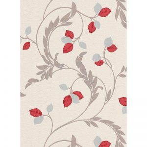 Erismann Shimmer Blown Vinyl Wallpaper Red 9782-06 A4 Sample