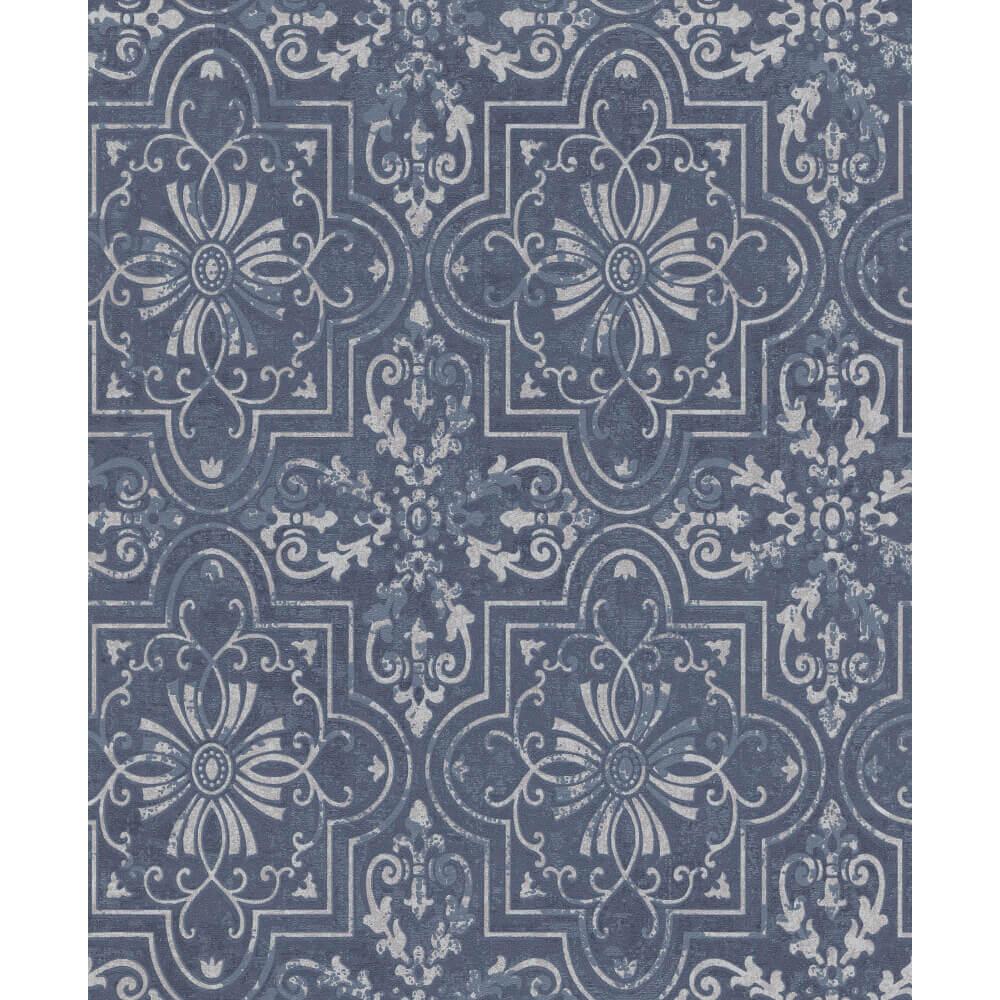 e8e5c4ef Erismann Vintage Wallpaper Blue 6337-08 Full Roll - Wallpaper Warehouse