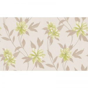 Erismann Spring Blown Vinyl Wallpaper Green 9500-02 A4 Sample