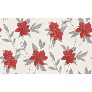Erismann Spring Blown Vinyl Wallpaper Red 9500-06 A4 Sample
