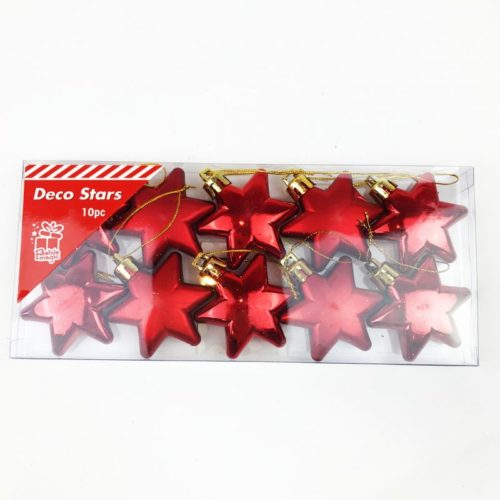 Christmas Tree Stars Pack of 10 Red