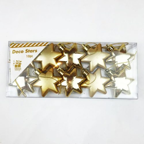 Christmas Tree Stars Pack of 10 Gold