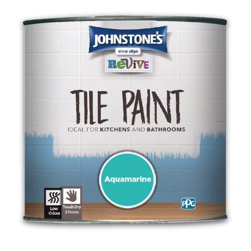 750ml Johnstones Revive Tile Paint Aquamarine