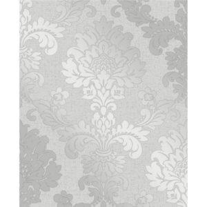Fine Decor Wallpaper Quartz Damask Silver FD41965 Sample