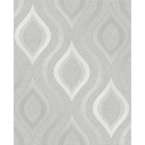 Fine Decor Wallpaper Quartz Geometric Silver FD41968 Sample