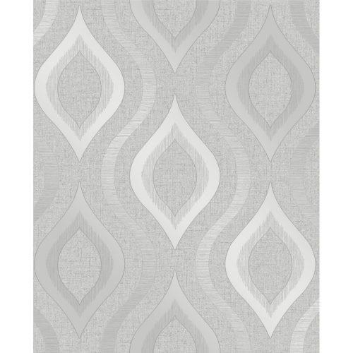 Fine Decor Wallpaper Quartz Geometric Silver FD41968 Sample