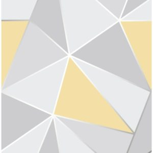 Fine Decor Heavyweight Wallpaper Apex Yellow FD41991 Large Sample