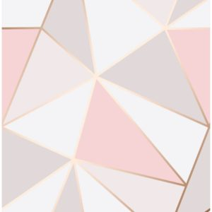 Fine Decor Heavyweight Wallpaper Apex Rose Gold FD41993 Large Sample