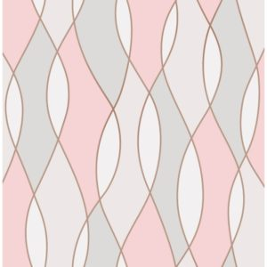 Fine Decor Heavyweight Wallpaper Apex Wave Rose Gold FD42172 Large Sample