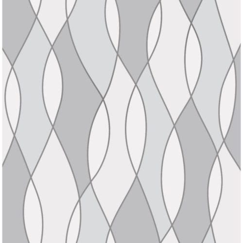 Fine Decor Heavyweight Wallpaper Apex Wave Grey FD42174 Large Sample