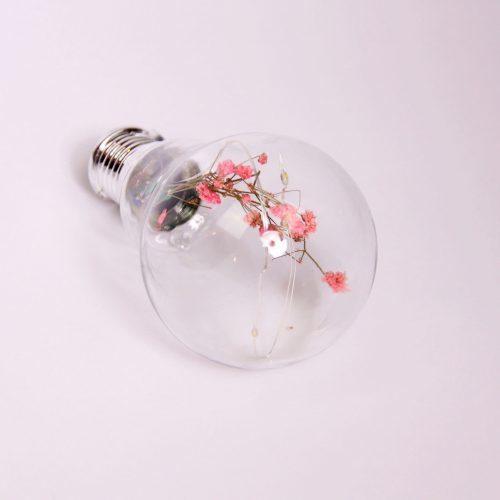 Solar Powered Blossom Bulb Pink