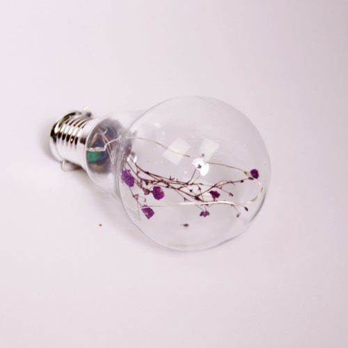 Solar Powered Blossom Bulb Purple