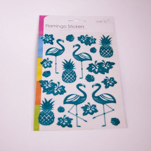 Flamingo Sticker Set Blue